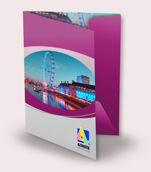 Double Sided 6PP Folder Printing