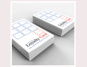 Single Or Double Sided Loyalty Card Printing Azimuth Print - Loyalty card template