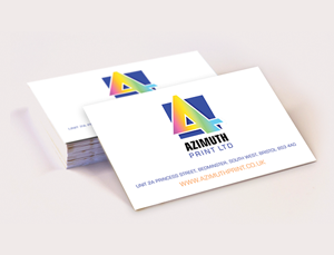 Single Sided Business Card Printing - Azimuth Print