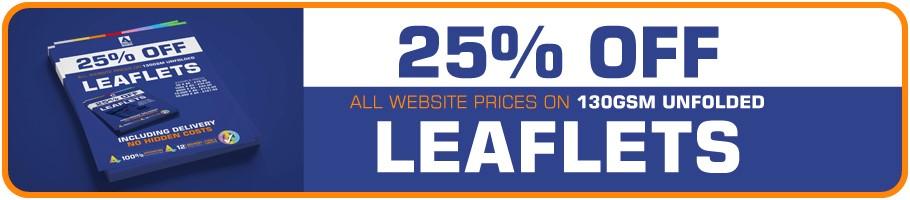 25% Off Leaflets